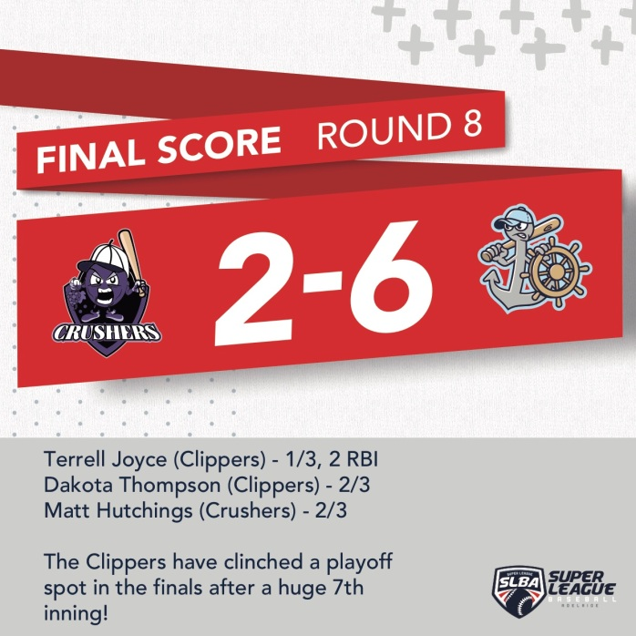 CLIPPERS @ CRUSHERS R8